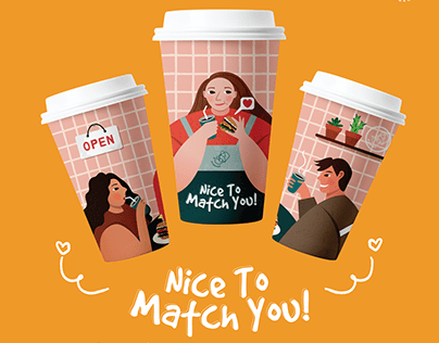 Nice To Match You! - Coffee Cup Design Competition