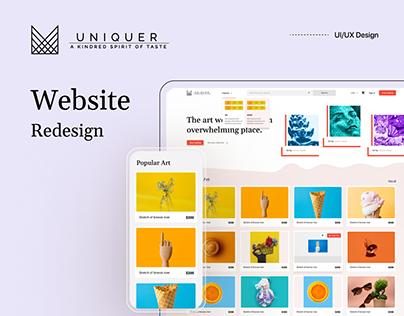 Uniquer Website Redesign