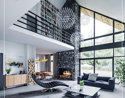 A HOUSE WITH A DOUBLE FIREPLACE SK-ARCHITEKCI