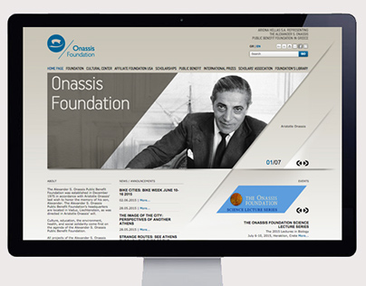 Onassis Foundation, Website