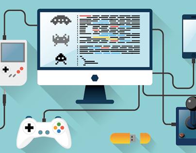 Videogame Development Illustration