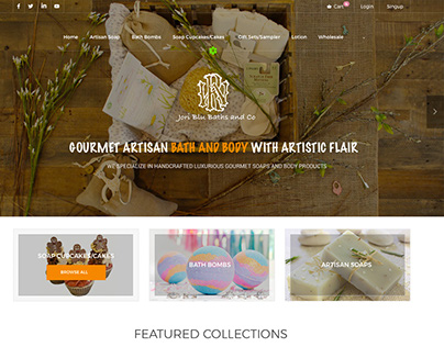 Artisan Soap Website Design