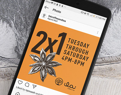 Clean Instagram Social Media Design for Tea Shop