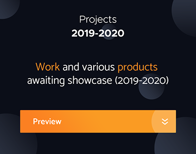 Projects 2019-2020 (Branding, UI, UX, Development)