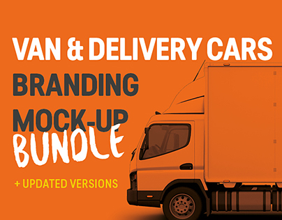 Van & Delivery Cars Mockup