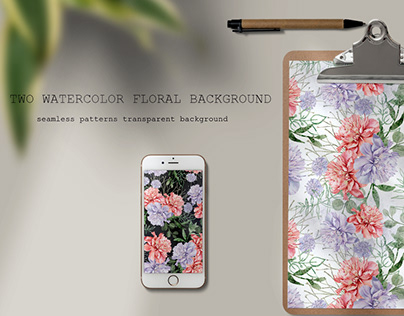 two watercolor floral backgrounds.