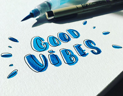 Handlettering / Good Vibes