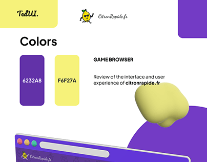Game browser : citronrapide.fr (UI & UX review)