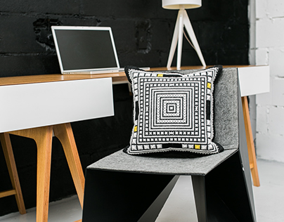 Modern furniture with embroidered cushions  #KAANNI