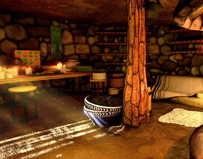 Shaman Hut - Game Environment
