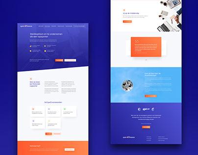 Brandstory & Website design Sparr Finance