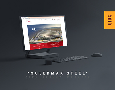 Gulermak Steel UIUX Design, Front End by