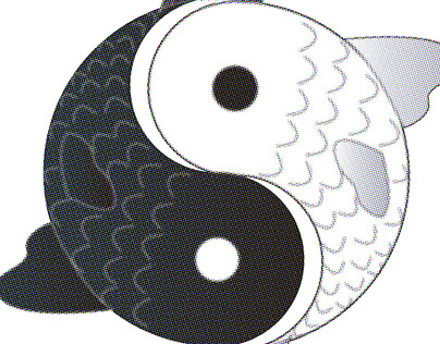 Tui and La / Yin and Yang Vector Graphic