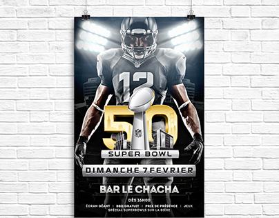 Affiche pour le superbowl 50