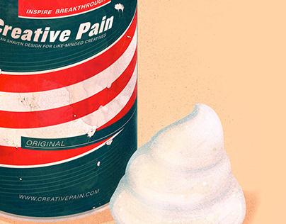 The creative pain: Shaving cream