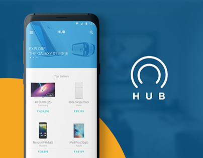 Hub — Futuristic Shopping App