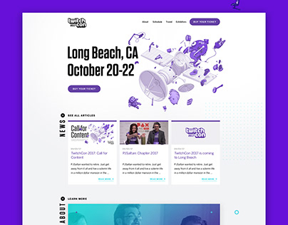 TwitchCon 2017 Landing Page