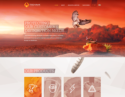 Firehawk Products & Services website