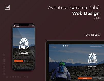 Aventura Extrema Zuhé Responsive Web Design