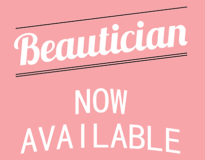beautician poster