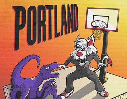 Portland vs. Toronto Gameday Poster