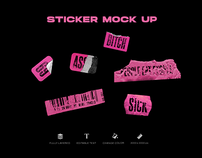 NEW stickers mock up