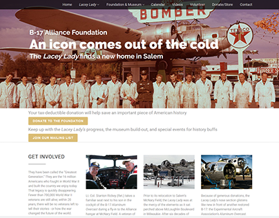 B-17 Alliance Foundation website redesign