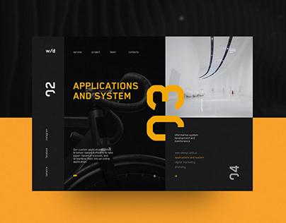 White Digital Agency Web Page Design