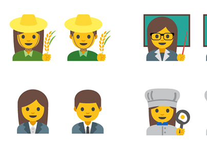 Google Android Women Professional Emoji Design