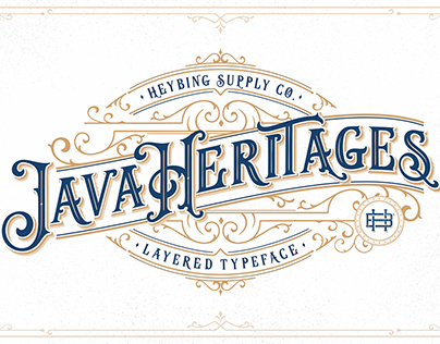 Java Heritages Typeface