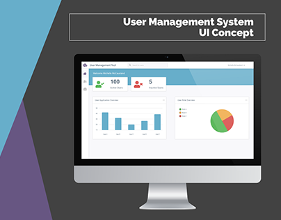 User Management System UI Concept