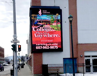 Digital Sign for Corning Community College