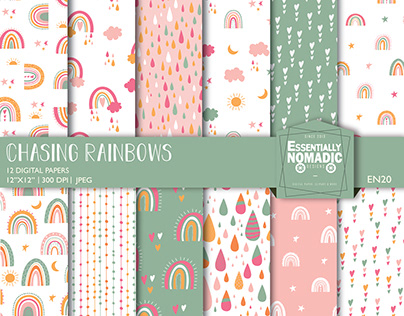 Rainbow-Seamless Pattern