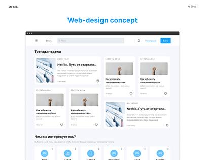 MEDIA.   Web-design concept