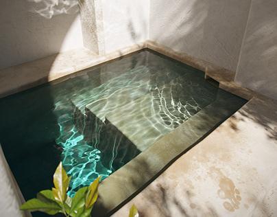 Caustic pool