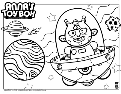 Coloring Pages for Anna's Toy Box