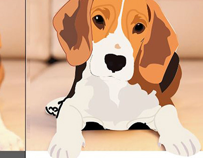 Dog Vector work with path illustrator