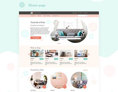 Website for a furniture shop
