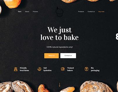 Bakery Landing Page with Wordpress Elementor BeThemes