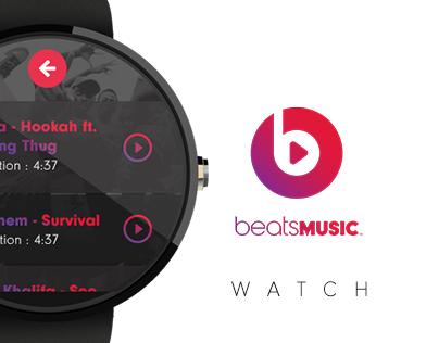 Beats Music Watch App Concept Design