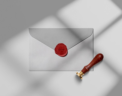 Free Wax Seal Stamp PSD Mockup