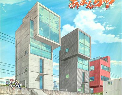 Study 04 4X4 House by Tadao Ando