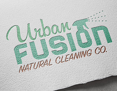Logo Design: Urban Fusion Cleaning Co.