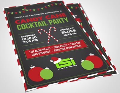 Christmas Party Flyer for ISI