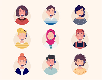 Free Call center avatar pack