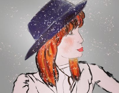 Lady in snow