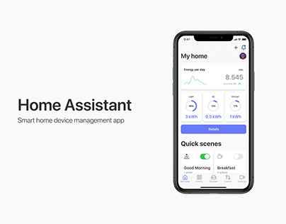 Home Assistant app UI/UX design