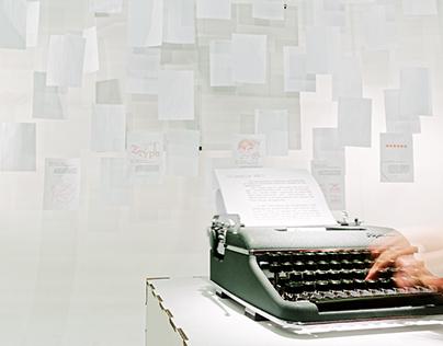 typewriter - Ausstellungskonzept
