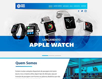 Site Institucional OnePro + Vitrine. (Concept 2016)