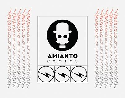 Amianto Comics - logo, story and lighting bolt